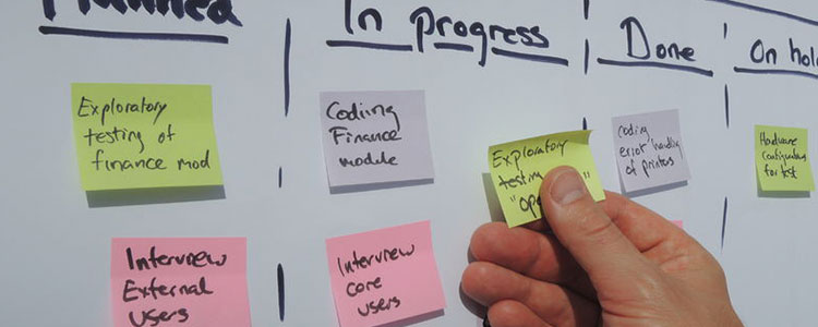 in progress post-it notes