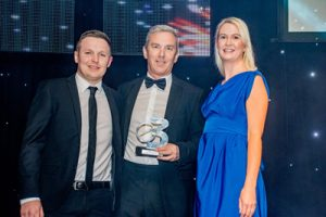 Our Managing Director Tony Smith and Business Manager Owen Smith, receive their award from Emma Swan