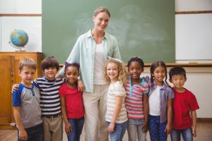 teacher with group of children