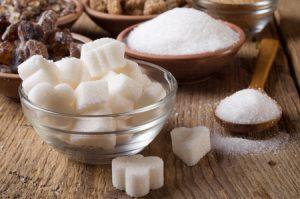 sugar cubes and granulated sugar