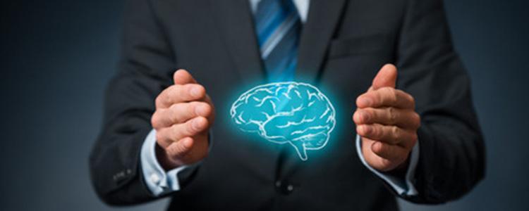Floating Blue Brain