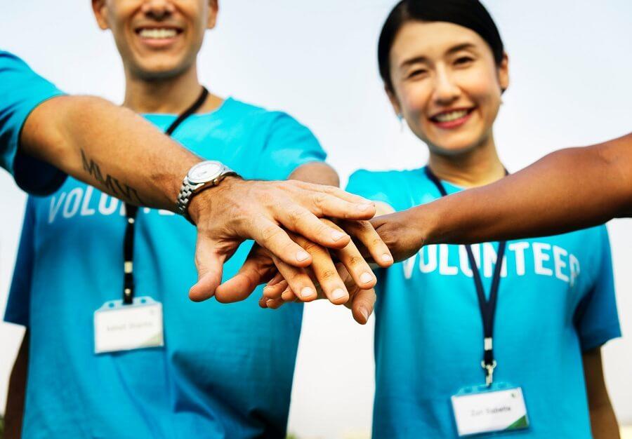 three volunteers